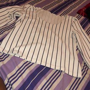 Cute striped long sleeve blouse